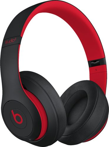 Beats by Dr. Dre - Geek Squad Certified Refurbished Beats Studio³ Wireless Headphones - The Beats Decade Collection - Defiant Black-Red