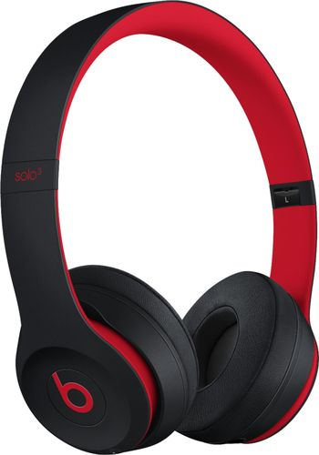 Beats by Dr. Dre - Geek Squad Certified Refurbished Beats Solo³ Wireless Headphones - The Beats Decade Collection - Defiant Black-Red