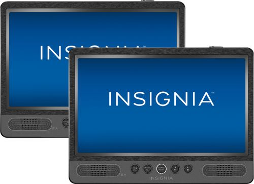 "Insignia? - 10"" Dual Screen Portable DVD Player - Black"