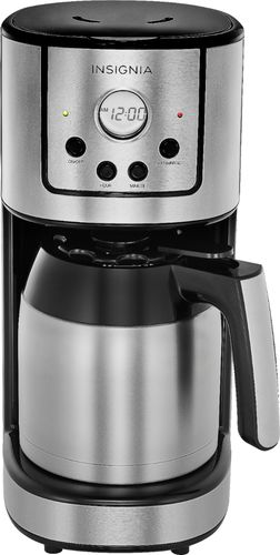 8df698c22d63 Insignia™ – 10-Cup Coffee Maker – Stainless Steel – BrickSeek