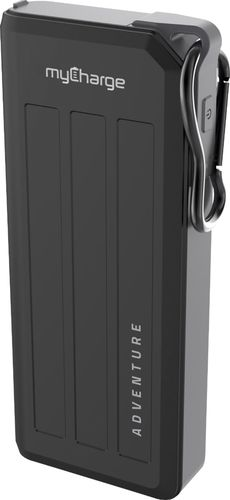 myCharge - Adventure Mega Portable Charger for Most USB-Enabled Devices - Black/Gray