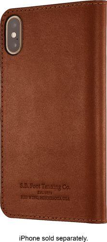 Platinum - Leather Folio Case for Apple® iPhone® X and XS - Papaya