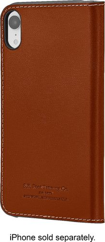 Platinum - Leather Folio Case for Apple® iPhone® XR - Papaya