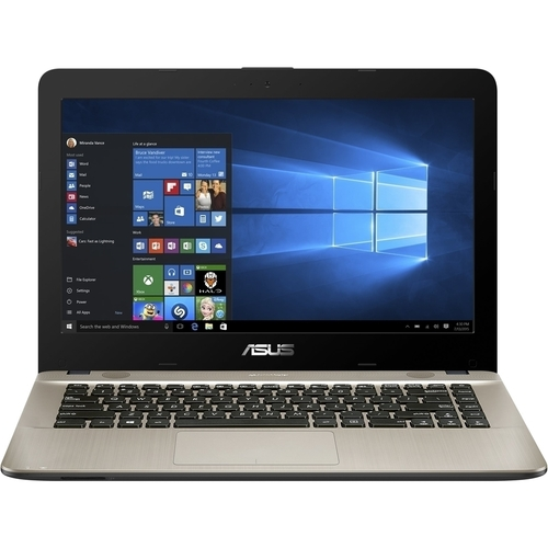 "ASUS - VivoBook F441BA 14"" Laptop - AMD A9-Series - 8GB Memory - AMD Radeon R5 - 256GB Solid State Drive - Gold, Chocolate Black"