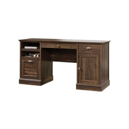 Sauder Barrister Lane Executive Desk, Iron Oak Finish