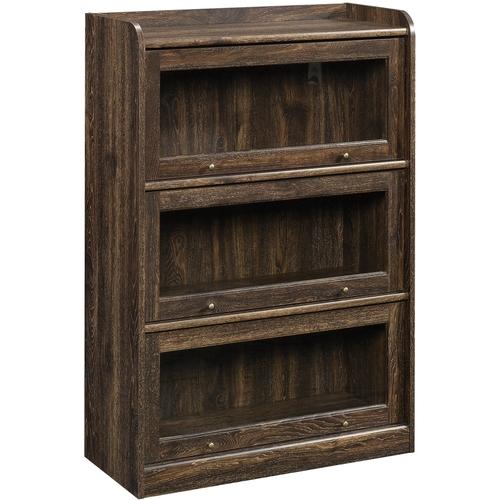 Sauder Barrister Lane 3-Shelf Bookcase, Iron Oak Finish