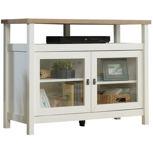 Sauder Cottage Road TV Stand for TVs up to 42u0022, Soft White Finish