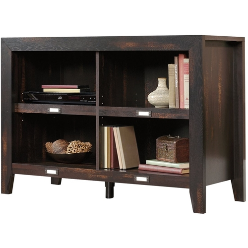 Sauder Dakota Pass Anywhere Console Table/TV Stand for TVs up to 42u0022,Char Pine Finish