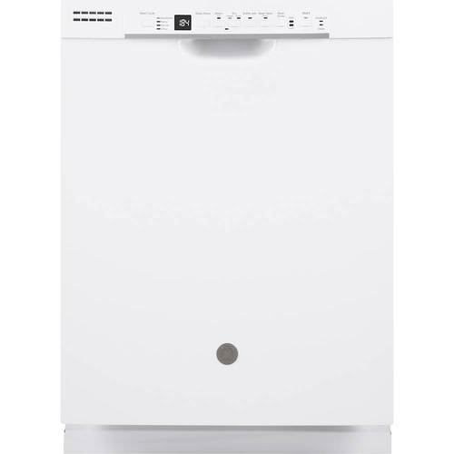 GE GDF630PGMWW 24 Inch Built In Full Console Dishwasher with 4 Wash Cycles, in White