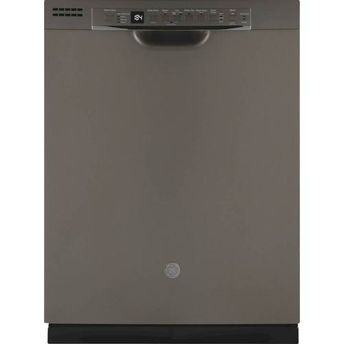 GE GDF630PMMES 24 Inch Built In Dishwasher with 4 Wash Cycles, 16 Place Settings, NSF Certified, Energy Star Certified, in Slate