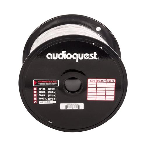 AudioQuest - SLiP 100 In-Wall Speaker Cable - White/Silver Stripe