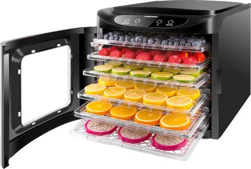 Chefman RJ43-SQ-6T 6 Tray Digital Touch Display BPA Free Food Dehydrator, Black