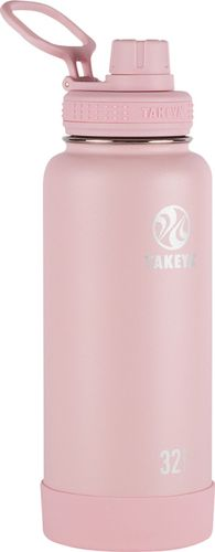 Takeya 32oz Actives Insulated Stainless Steel Water Bottle with Spout Lid - Blush