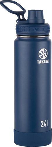 Takeya 24oz Actives Insulated Stainless Steel Water Bottle with Spout Lid  - Navy