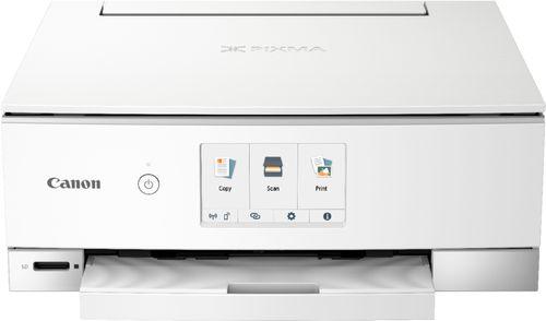Canon PIXMA TS8220 White Wireless Inkjet All-In-One Printer