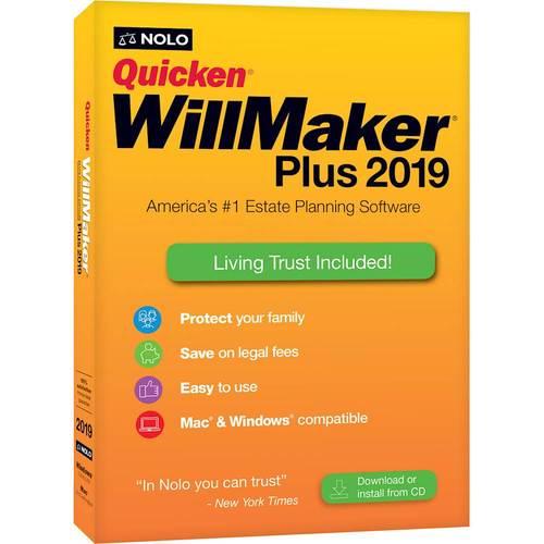 Nolo WQP19R Quicken WillMaker Plus 2019 for Window & Mac
