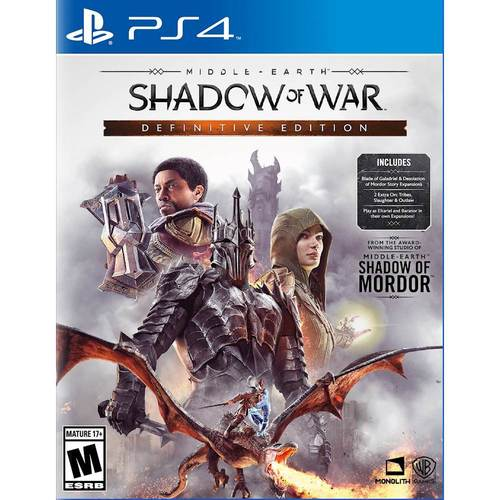 Middle Earth: Shadow Of War Definitive Edition, Warner Bros, PlayStation 4, 883929654291