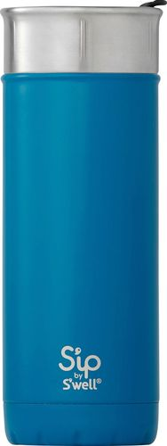 Sip by Swell Vacuum Insulated Stainless Steel Water Bottle, 16oz, Jersey Blue