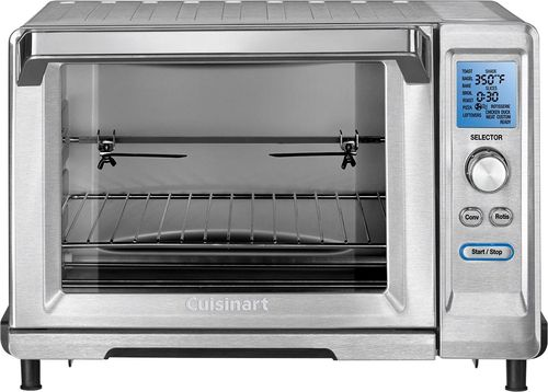 Cuisinart - Convection Toaster/Pizza Oven - Brushed Stainless Steel Rotisserie, convection, bake, pizza and toast functions; nonstick interior; includes crumb tray, wire rack, broil rack, bake pan, rotisserie set and insertable handle