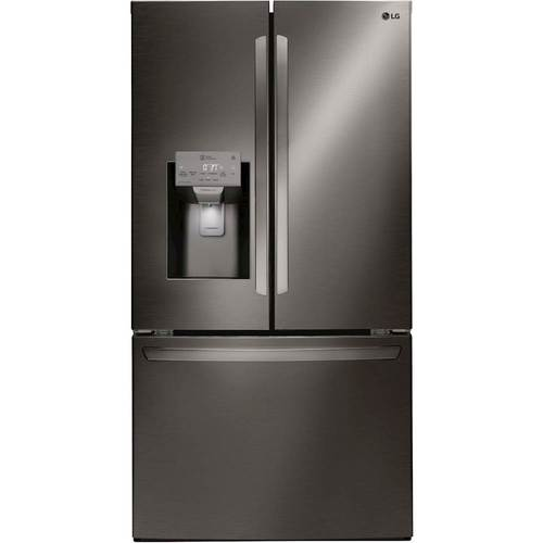 LG Electronics 22 cu. ft. French Door Smart Refrigerator with Wi-Fi Enabled in Black Stainless Steel, Counter Depth
