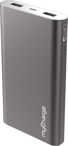 myCharge - RazorMax 8,000mAh Portable Charger for Most USB-Enabled Devices - Gunmetal