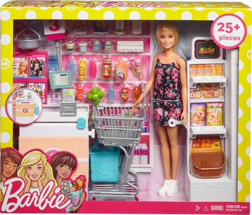 Barbie - Barbie And The Supermarket - White/Pink