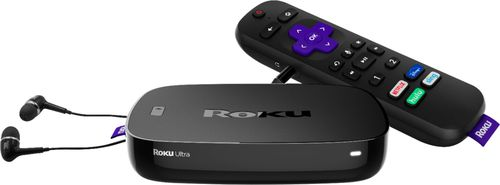 Roku Ultra 4K Streaming Media Player with Jbl Headphones & Enhanced Voice Remote