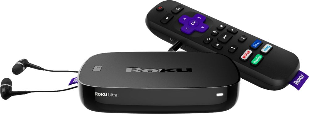 Roku Ultra | Hd4khdr Streaming Media PlayerVoice Remote, Remote Finder &Usb.Now IncludesPremium Jbl Headphones. (2018)