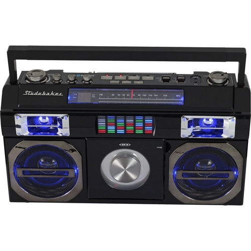 Studebaker - CD-RW/CD-R Boombox with AM/FM Radio - Black