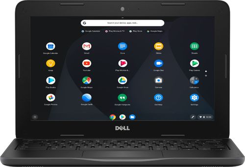 Dell - 11.6u0022 Chromebook - Intel Celeron - 4GB Memory - 16GB eMMC Flash Memory - Black Laptop Notebook PC Computer C3181-C871BLK-PUS