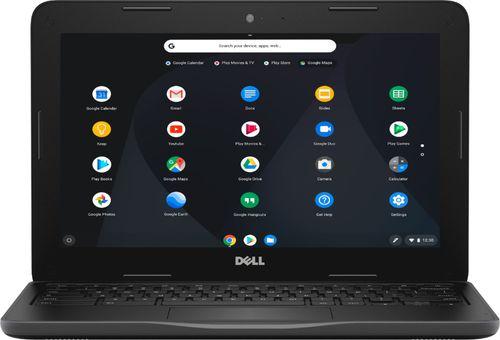 """Dell Inspiron Chromebook 11 3181 - Celeron N3060 / 1.6 GHz - Chrome OS - 4 GB RAM - 32 GB eMMC - 11.6"""" 1366 x 768 (HD) - HD Graphics 400 - Wi-Fi, Bluetooth - black"""