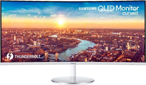 """Samsung 34"""" Class Curved Widescreen WQHD PLS Panel (3440 x 1440) Monitor - LC34J791WTNX/ZA"""