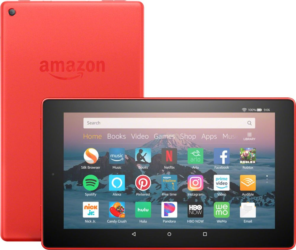 """Amazon - Fire HD 8 - 8"""" - Tablet - 16GB 8th Generation, 2018 Release - Punch Red"""