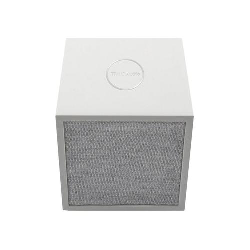 Tivoli Audio Cube Bluetooth Speaker System - White, Gray - Wireless LAN - Battery Rechargeable