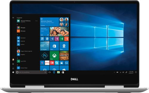 Dell Inspiron 13 13.3u0022 2-in-1 Touchscreen Laptop Intel Core i5-8265U 8GB RAM 256GB SSD Silver - 8th Gen i5-8265U Quad-core - Touchscreen Display - Intel UHD Graphics 620 - In-plane Switching Tech