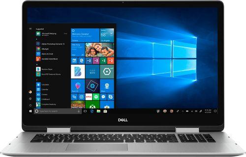 Dell Inspiron 7786 2-in-1 - Flip design - Core i7 8565U / 1.8 GHz - Win 10 Home 64-bit - 16 GB RAM - 512 GB SSD NVMe - 17.3u0022 IPS touchscreen 1920 x 1080 (Full HD) - GF MX150 - Wi-Fi - silver