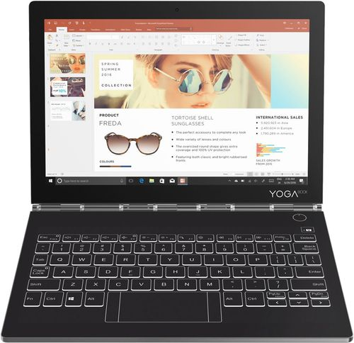 Lenovo - Yoga Book C930 2-in-1 10.8u0022 Touch-Screen Laptop - Intel Core i5 - 4GB Memory - 128GB Solid State Drive - Iron Gray