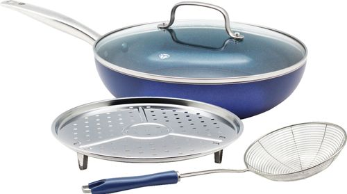 Blue Diamond 4pc Cookware Set Blue