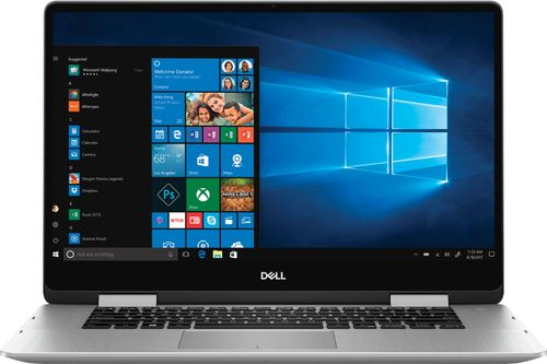 Dell Inspiron 15.6u0022 2-in-1 Laptop Core i7-8565U 8GB RAM 512GB SSD Silver - 8th Gen i7-8565U - In-plane Switching Technology - Intel UHD Graphics 620 - Fingerprint Reader on Power Key - Windows 10