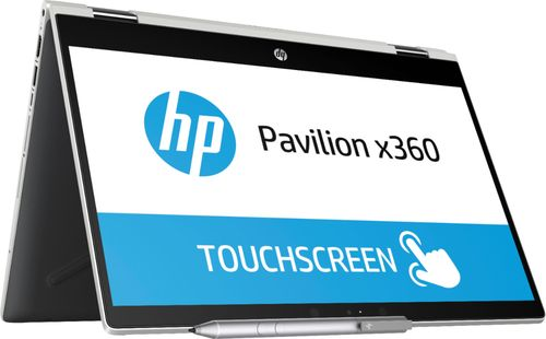 HP Pavilion x360 Intel Core i3-8130U X2 2.2GHz 8GB 128GB SSD 14u0022 Win10, Black