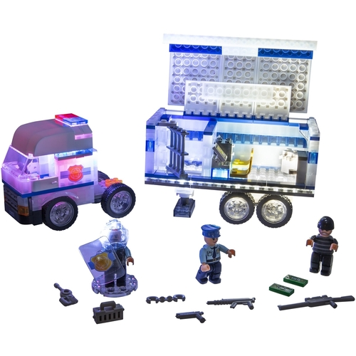 Laser Pegs Mobile Police Unit with Built-in Motion Activated Sound Module