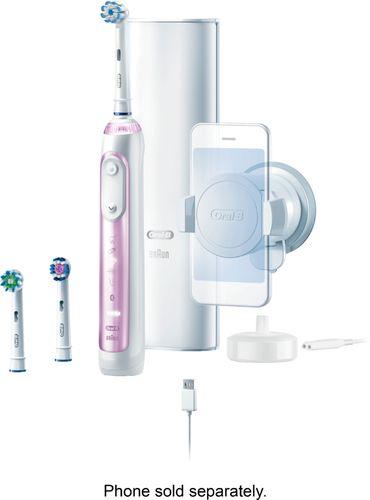 Oral-B 9600 Electric Toothbrush 3 Brush Heads Powered by Braun, Sakura Pink