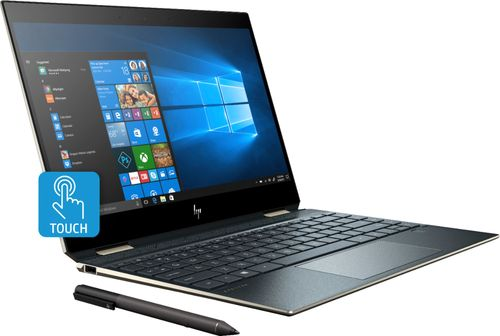 HP - Spectre x360 2-in-1 13.3u0022 UHD Touch-Screen Laptop - Intel Core i7 - 16GB Memory - 512GB Solid State Drive - Poseidon Blue 13-AP0023DX Tablet Notebook PC Computer 4K