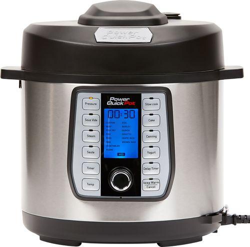 Power Quick Pot - 6-Quart Pressure Multi Cooker - Black/Stainless Steel
