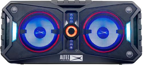 Altec Lansing - XPEDITION 8 Portable Bluetooth Speakers - Black Bluetooth and NFC-enabledRechargeable batteryWater-resistant