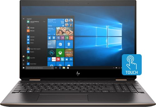 HP - Spectre x360 2-in-1 15.6u0022 4K Ultra HD Touch-Screen Laptop - Intel Core i7 - 16GB Memory - 512GB SSD - HP Finish In Dark Ash Silver, Sandblasted Finish Notebook Tablet PC Computer 15-DF0013DX