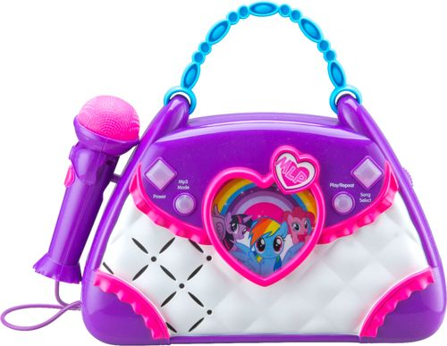 KIDdesigns - My Little Pony Magical Music Sing-Along Boombox Karaoke System - Purple/Pink/White