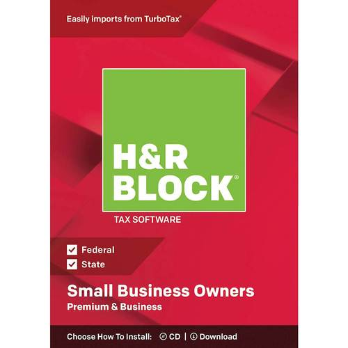 H&R Block Tax Software Premium & Business 2018