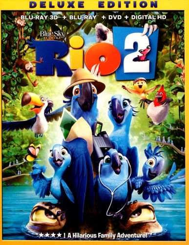 Rio 2 [Deluxe Edition] [3 Discs] [Includes Digital Copy] [3D] [Blu-ray/DVD] [Blu-ray/Blu-ray 3D/DVD] [2014] 6306117