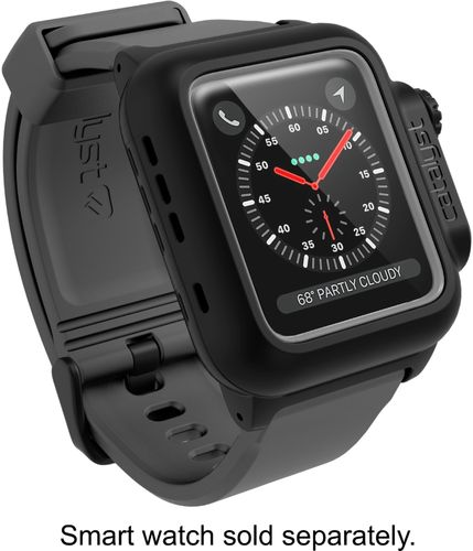 Catalyst - Protective Waterproof Case for Apple Watch™ 42mm - Gray/Black Compatible with Apple Watch 42mm
